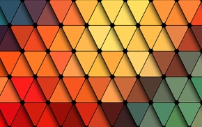 colorful, abstract, triangle