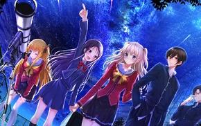 anime girls, Otosaka Ayumi, twintails, schoolgirls, school uniform, Swordsouls