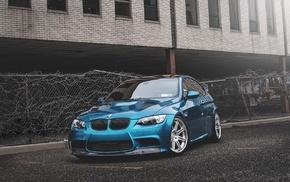 BMW E92, car, BMW, BMW E92 M3, blue cars