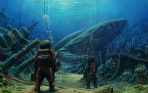 divers, artwork