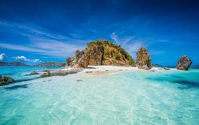 rock, tropical, landscape, Philippines, mountain, nature