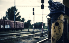 rust, hat, Ukraine, depth of field, woolly hat, train