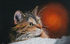 painting, cat