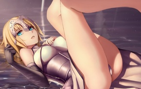ruler, Fate Series, FateGrand Order, water, blue eyes, Joan of Arc