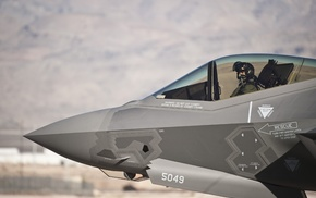 military aircraft, Lockheed Martin F, 35 Lightning II, US Air Force, military