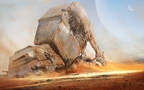 wreck, digital art, Star Wars, artwork, science fiction, concept art