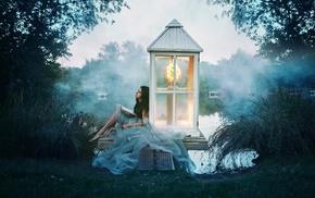 model, fantasy art, girl outdoors, girl