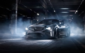 street, night, car, tuning, Carlsson, Mercedes