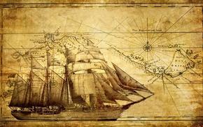 map, ship
