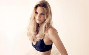 Maria Lyth, blonde, model, lingerie, girl, bra