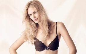 model, bra, blonde, Maria Lyth, lingerie, girl