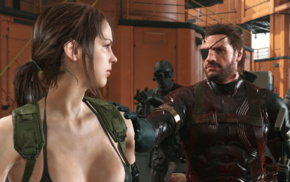 Metal Gear Solid V The Phantom Pain, Quiet, video games, Venom Snake, Metal Gear