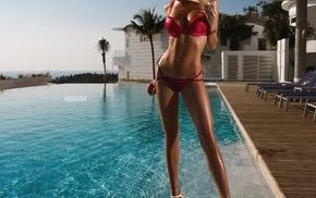 swimming pool, bikini, Aleksandr Mavrin, girl