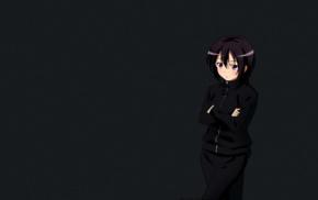gym clothes, Mikazuki Yozora, Boku wa Tomodachi ga Sukunai, short hair, anime girls, tracksuit