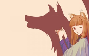 anime, Holo, anime girls, Spice and Wolf