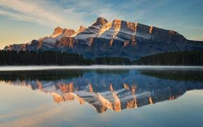 water, sunlight, calm, Unlight, morning, landscape