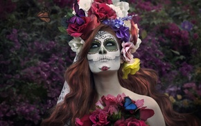 Dia de los Muertos, model, girl, makeup