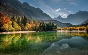 lake, forest, Slovenia, nature, trees, landscape