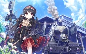 train, visual novel, uniform, Maitetsu, anime girls