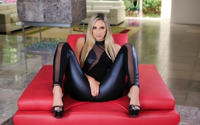 ass, leather pants, high heels, girl, toes, blonde