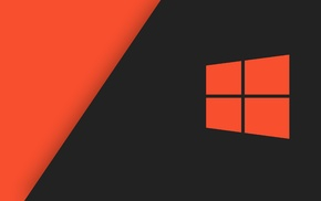 operating systems, Windows 10, minimalism, Microsoft Windows