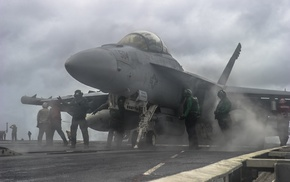 military aircraft, McDonnell Douglas FA, 18 Hornet, Boeing EA, 18G Growler, USN VAQ