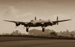 Avro Lancaster, military aircraft, Bomber, aircraft