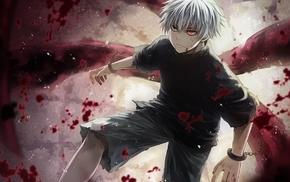 Tokyo Ghoul, blood spatter, Kaneki Ken