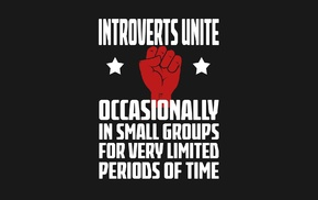 fists, typography, poster, introvert, humor, minimalism