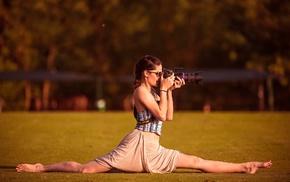 people, camera, splits, girl