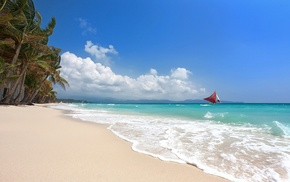 island, Philippines, beach, tropical, sand, summer