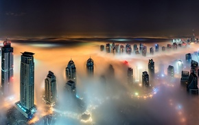 landscape, Dubai, building, United Arab Emirates, night, skyscraper