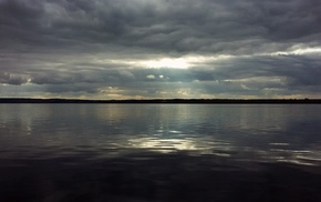 Russia, water, sky, river, clouds