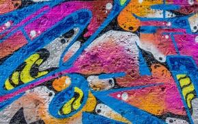 colorful, walls, graffiti, bricks, artwork, abstract