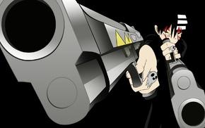 anime, Death The Kid, machine gun, Soul Eater