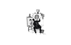 David Tennant, Paul McGann, Christopher Eccleston, Doctor Who, triple self portrait