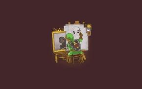 triple self portrait, Link, The Legend of Zelda, Dark Link