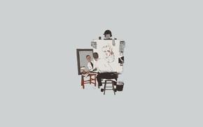 Tyler Durden, triple self portrait, Fight Club