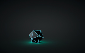 glowing, geometry, digital art, crystal