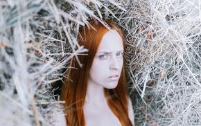 redhead, girl, model