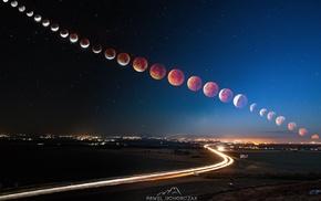 moon, Super Blood Moon, long exposure, Blood moon