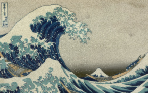 The Great Wave off Kanagawa, Hokusai, Mount Fuji