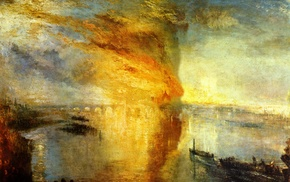 classic art, painting, fire, J. M. W. Turner