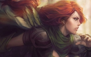 artwork, video games, redhead, Dota 2, Windranger, Windrunner