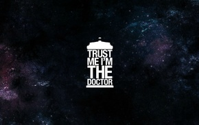 The Doctor, minimalism, TARDIS, Doctor Who