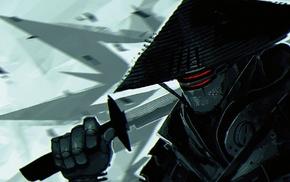 Samurai 7, samurai, katana, artwork, robot, Kikuchiyo