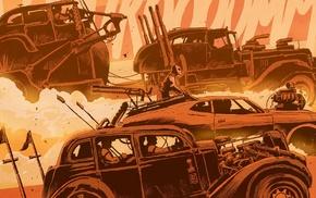 dust, digital art, Mad Max Fury Road, dirt, car, artwork