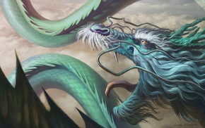 artwork, chinese dragon, dragon, fantasy art