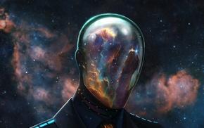 artwork, Dan Luvisi, Daft Punk, science fiction