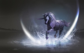 horse, artwork, fantasy art, unicorns